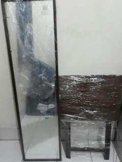 Mini Nara Table & 4ft mirror wood frame