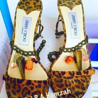 Jimmy Choo Equator Jewels Sandals In Leopard