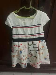 Dress anak size 120 (4 th)