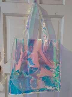 Fashion transparent laser PVC shoulder bag