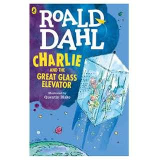 🚚 Brand New PaperBack - Charlie and The Great Glass Elevator by Roald Dahl  !!