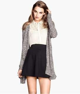 h&m black lace cardigan
