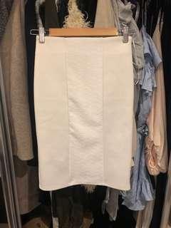Mossman White Skirt