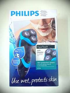 Philips Shaver At750AQUA TOUCH WET & DRY ELECTRIC SHAVER