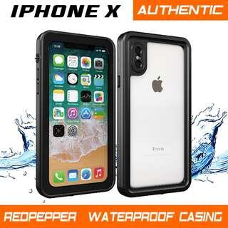IPHONE X AUTHENTIC WATERPROOF CASING. IPHONE 7 7+ 8 8+ X