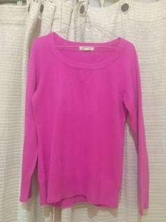 Forever 21 pink knit, sweater forever21 reprice