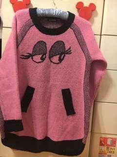 🚚 專櫃長版毛衣,保暖質料好,f尺寸