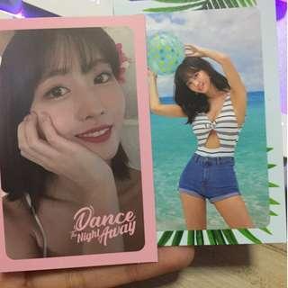 WTS Twice Momo and Mina Photocards