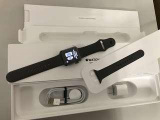 Brand new US Apple Watch S3 GPS 38mm Gray Aluminum Case Gray Sport Band, Warranty date6-9-2019