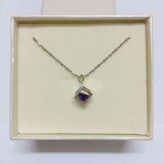 全新紫水晶頸鏈