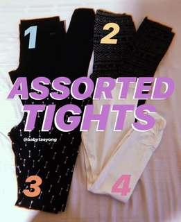 assorted tights