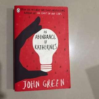 (English) An abundance of katherines by john green