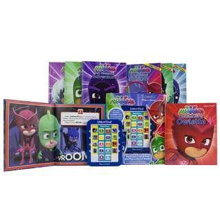 PJ mask Electronic Reader and 8 book Library