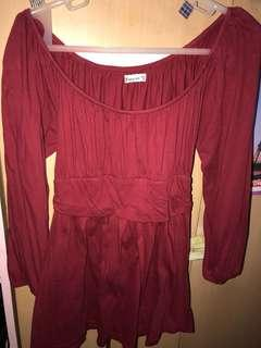 Forever21 red off shoulder top