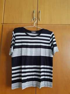 Striped tshirt black grey