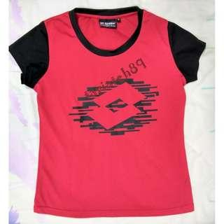 Lotto Unisex Red Sports Training T-Shirt size M #cnyred#MFEB20