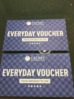 Cathay movie ticket 2 pcs
