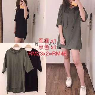 Army Green Oversized Dress