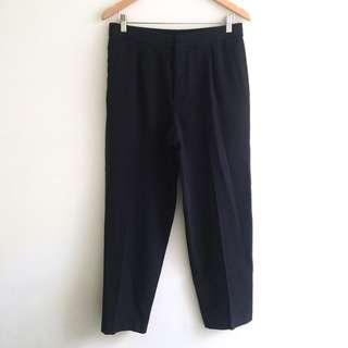 COS Navy Wool Pants