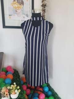 Striped dress (Dark blue) 👗