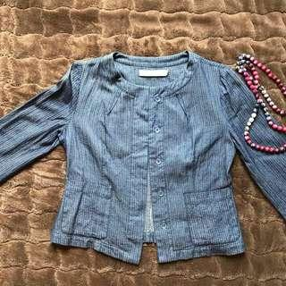 Blazer Warna Denim
