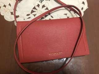 Charles Keith Orange Crossbody Bag