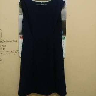 dress biru dongker