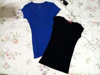 2pcs. Fitted Tops /Stretchable/ Fits XS to S