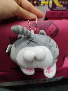 [得意] Cat 灰色 貓 pat pat 吊飾 掛飾 鎖匙扣