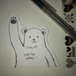 Sticky Note + Washi Tape Grabbag