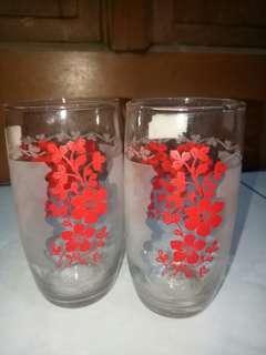 Gelas Vintage Series Bunga