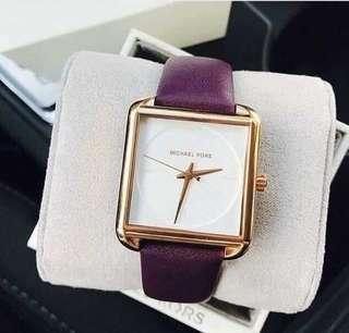 Sale‼️MK Lake Purple Leather Band Ladies Watch Php 3,300