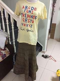 With pos Set skirt & tshirt