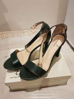 Something Borrowed Platform Heels with Ankle Strap