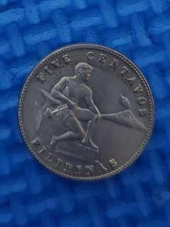 5 centavos - Treasury Coins 1945