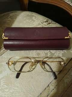 Cartier Gold Frame Reading Glass Authentic