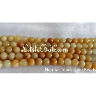 Authentic Natural Topaz Jade Beads 8mm