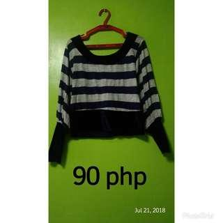 Croptop Stripes Blouse
