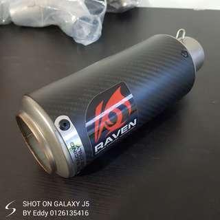 Muffler RAVEN carbon fiber betul :) Rm250 shj Wasap.my/60126135416 Readystock readypos