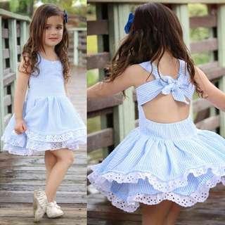 🚚 Girls Striped Summer Dress