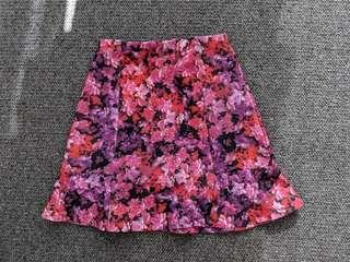 Target - Floral scuba skirt - AU 6