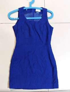 Preview Blue Fitted Dress