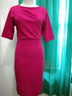 Scuba fusia dress