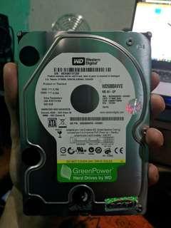 Hdd wd green 500 GB hardisk 100%