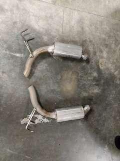 2 inch straight flow muffler