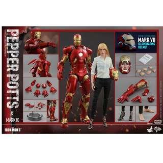 Hot Toys - MMS 311 IRON MAN 3 – PEPPER POTTS & MARK IX Special Edition