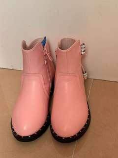 全新女童短靴 粉紅色 (size: 31)