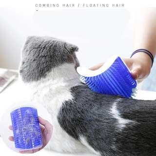 Cat brush with catnip