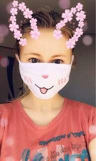 Cotton mask in with kawaii smile design hentai anti dust