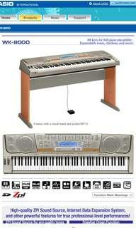 Great condition Casio WK8000 88 keys digital piano with stand for sale!!